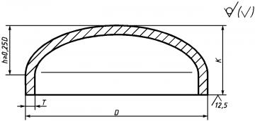 Чертеж и размерный ряд заглушки ГОСТ 17379-01